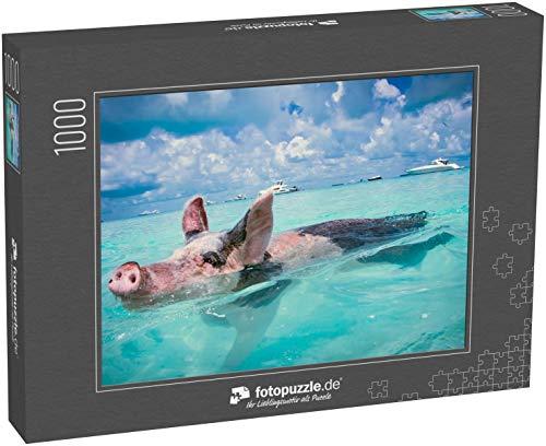 Puzzle 1000 Teile Die Schwimmenden Schweine der Bahamas - Klassische Puzzle, 1000/200/2000 Teile, in edler Motiv-Schachtel, Fotopuzzle-Kollektion 'Karibik'