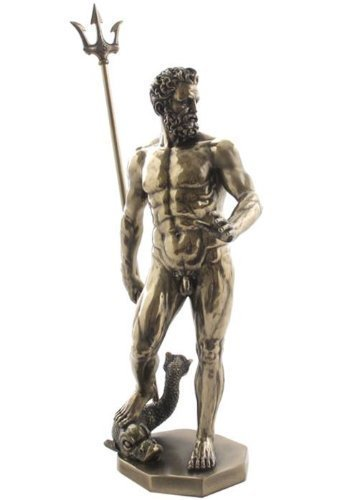 Unicorn Greek Figure Poseidon with Trident Decor Gift Objet D Art Neptune