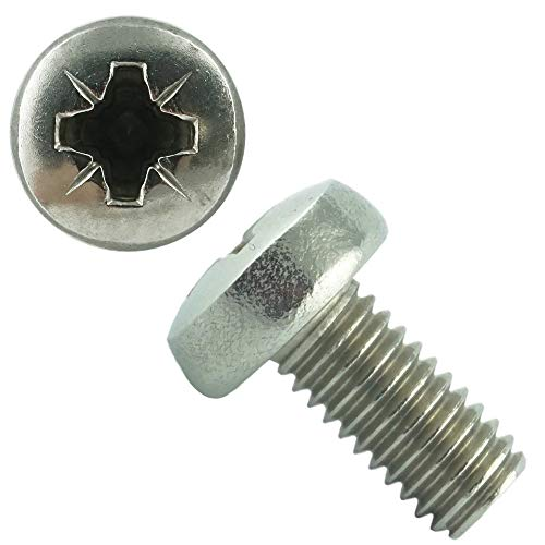 Eisenwaren2000   M2 x 8 mm Linsenkopfschrauben DIN 7985 Z mit Kreuzschlitz (50 Stück) - ISO 7045 Linsenkopf Schrauben PZ Pozidrive - Gewindeschrauben - Edelstahl A2 V2A - rostfrei
