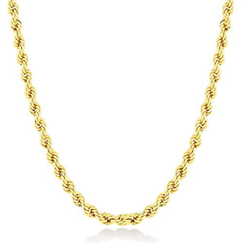 Gelin Halskette 14 Karat 585 Gelbgold Kordelkette - Breite 1mm - 1.8 Gr - Länge 45cm, 585er Gold