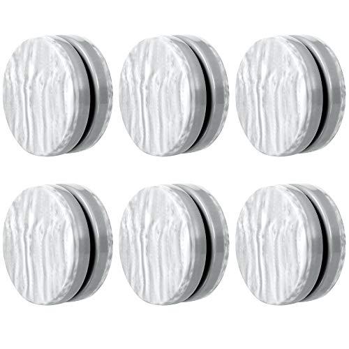 Jetec 6 Paar magnetische Vorhanggewichte Magnet Duschvorhang Draperie Gewichte Magnet Tischdecke Magnete Fenster Vorhang Anhänger Gewichte für Duschvorhang Liner verhindern Blasen