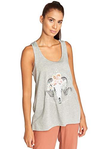 Brave Soul dames T-shirt tank-top cool print motief steenbok bloem raam