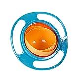 Nubstoer Cuenco antiderrames Giratorio de 360 Grados para bebés a Prueba de derrames Divertido giroscopio