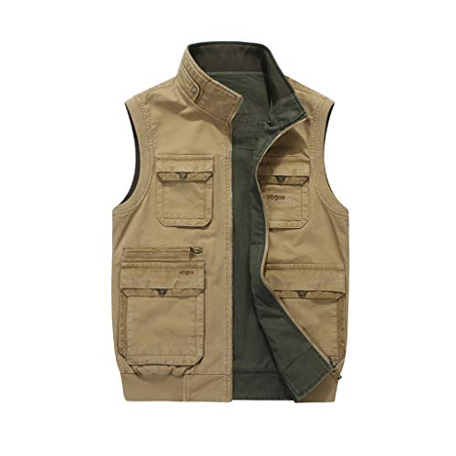 Tooling vest Outdoor multi-pocket vest Fotografie visvest Dun vest De voor- en achterkant kan gedragen worden Opstaande kraag ontwerp