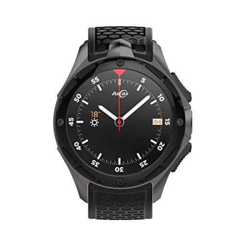 NICERIO Smartwatch,W2 3G GPS Smart Watch Telefon 1,39 Zoll Android 7,0 MTK6580 Quad-Core 2 GB RAM 16 GB ROM 2.0MP Kamera Bluetooth Multi-Sport-Pulsmesser Smartwatch mit WiFi 2G 3G Netzwerk (schwarz)