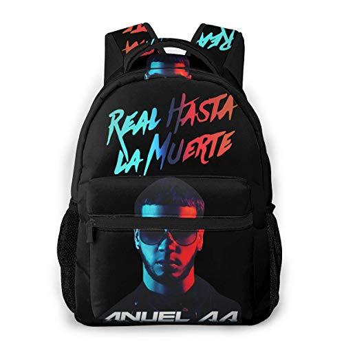 BAODANLE Anuel Aa Real Hasta La Muerte School Bag Multifunctional Backpack School Knapsack Fashionable Backpack for Men Women