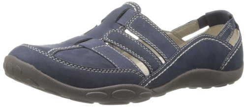 Clarks womens Haley Stork loafers shoes, Navy, 8.5 US