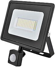 Eveready Lighting LED-spot, 10 W/20 W/30 W/50 W, PIR en PIR LED, niet zwart, 4000 K (Eveready zwart, 30 W LED PIR Floodlight)