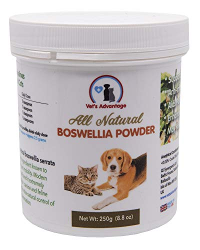 Vet's Advantage 100% Pure Boswellia Powder - Supports Joint and Hip Health And Provides Natural Control of Pain and Inflammation for Dogs and Cats
