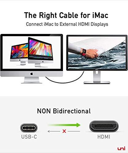 USB C auf HDMI Kabel (4K@60Hz), USB Typ C zu HDMI 2.0 Kabel [Thunderbolt 3 kompatibel] für Chromebooks und viele weitere Notebooks - 8
