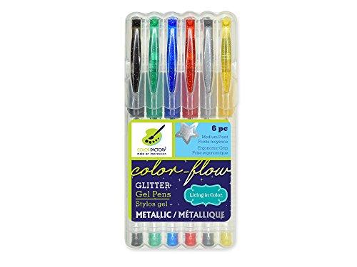 Living in Color Premium Color-Flow Glitter Gel Pen est un outil essentiel pour la coloration des adultes, couleur vive, métallisé