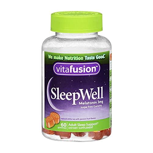 Vitafusion SleepWell Gummy Sleep Aid for Adults, White Tea & Passion Fruit 60 ea by Vitafusion