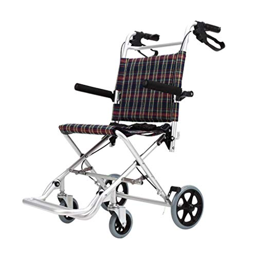 MTG Transit Wheelchair,Foldable Easy Operation Seat and Backrest Ergonomic Maximum Weight Supported 100Kg Heavy