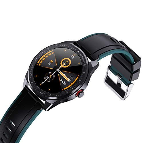 Vigorun Smartwatch, Pantalla Táctil 1.3' Reloj Inteligente Hombres Mujeres, Impermeable IP68 Fitness 10 Modos Deportivos, Oxígeno Sangre Pulso Monitor de Sueño Podómetro para Android Samsung, Verde