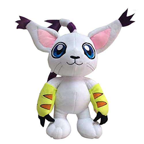 Yasdf Juguete De Peluche Digimon Gatomon De 30 Cm, Suave Relleno para Niños, Niñas, Niños, Juguetes para Niños