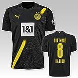 PUMA BVB Auswärtstrikot Erwachsen Saison 2020/21, Größe:XL, Spielername:8 Dahoud
