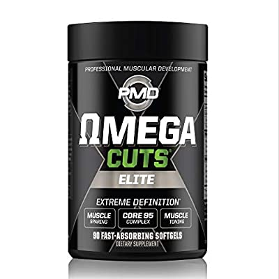 PMD Sports Omega CUTS Elite - Thermogenic Fat Burner - Zero Stimulant Omega Fatty Acid and CLA Formula for Muscle Definition and Maintenance Keto Friendly for Women and Men (90 Softgels)
