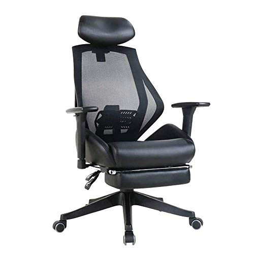 N/Z Home Equipment Swivel Chair Ergonomic Mesh Office Chair with Roller Blade Wheels Ridiculously Comfortable High Back Computer Desk Chair and Fully Adjustable