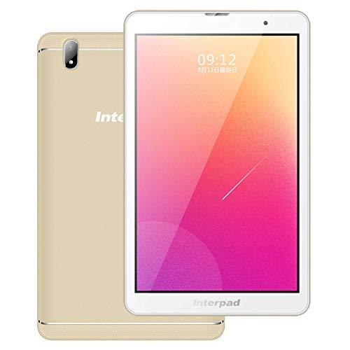 ACXZ Tabletas WiFi portátiles de 8 Pulgadas, procesador Octa-Core, Almacenamiento de 2GB + 32GB, GPS, Bluetooth, cámara de 2.0MP + 5.0MP, batería de 4000mAh, Oro
