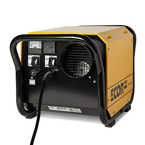 ECOR PRO 150 Pint Portable Commercial Industrial Grade Desiccant Dehumidifier for Basement, Whole House, Crawlspace, Garage | Covers up to 2000 sqft | Yellow/Black | EPD150