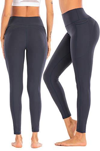 SPFASZEIV Laufhose Damen Hohe Taille Yogahose mit Tasche, Sport Leggins Stretch Hose Elastische Tummy Control Hose für Fitness Yoga...