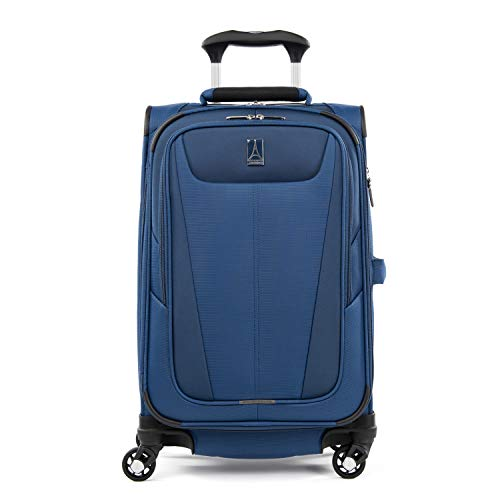 Travelpro Maxlite 5-Softside Expandable Spinner Wheel Luggage, Sapphire Blue, Checked-Medium 25-Inch
