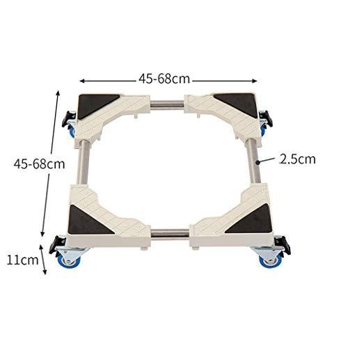 Fovert ROSS Universele Verplaatsbare Mobiele Basis Voor Vriezer Wasmachine Droger Stand, Met 8 Rubberen Draaiwielen Anti Vibratie Mute Cart Outdoor Roller Dolly Trolley Voor Wasmachine Stand Base