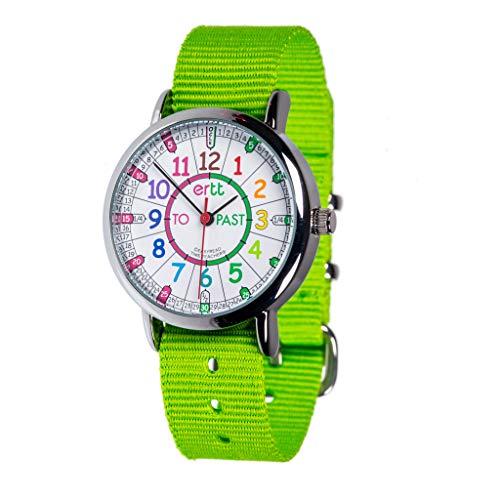 """EasyRead Time Teacher ERW-COL-PT-L, Armbanduhr für Kinder zum Lernen der Uhrzeit im """"Minuten nach""""/""""Minuten vor""""-Stil (Past/To), englischsprachiges Zifferblatt"""