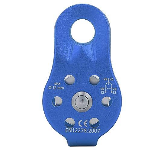 ALPIDEX Carrucola Mobile Pulley 20 KN per Corde di Tessuto con Un Diametro Fino a 11 mm EN12278