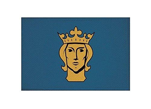 U24 Aufnäher Stockholm Fahne Flagge Aufbügler Patch 9 x 6 cm