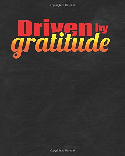 Driven By Gratitude Black Cover: Monitor Your Blood Pressure Daily