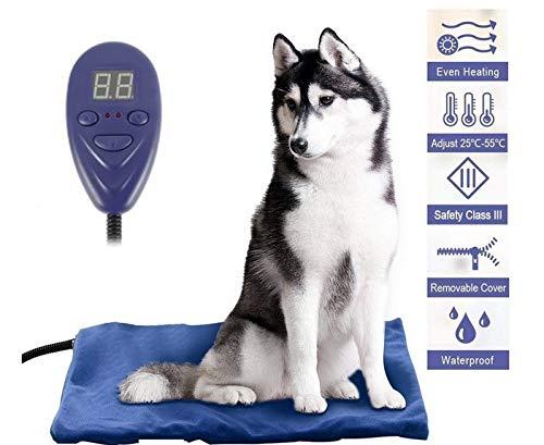 Almohadilla calefactora para Mascotas Esterilla calefactora para Perros y Gatos Calor Constante...
