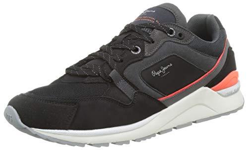 Pepe Jeans London X20 Runner, Zapatillas Hombre, 999black, 45 EU