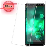 2 Pack Galaxy Note 8 Screen Protector Glass [Full Screen Coverage/Easy Installation Tray], 3D Curved Samsung Galaxy Note 8 Tempered Glass Screen Protector 2017 Clear