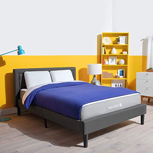 Nectar Full Mattress + 2 Pillows Included - Gel Memory Foam - CertiPUR-US Certified Foams - 180 Night Home Trial - Forever Warranty