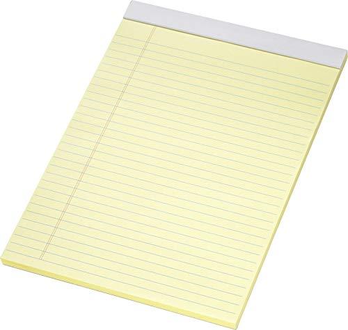 5x Legal-Pad Notizblock A4, gelb, mit Perforation