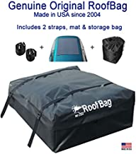 RoofBag Rooftop Cargo Carrier Bag   Made in USA   15 cu ft  Standard Waterproof Luggage Car Top Carrier   1 Yr Warranty   Fits ALL Cars: With Side Rails, Cross Bars or No Rack