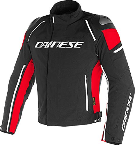 Dainese Racing 3 D-Dry Giacca moto in tessuto 48 Nero/Rosso
