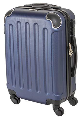 CABIN GO 5571 Valigia Trolley rigido in ABS grande valigia con ruote, Idoneo Ryanair e Easyjet 55x40x20, Bagaglio a Mano Ultra Leggero in ABS con Chiusura TSA