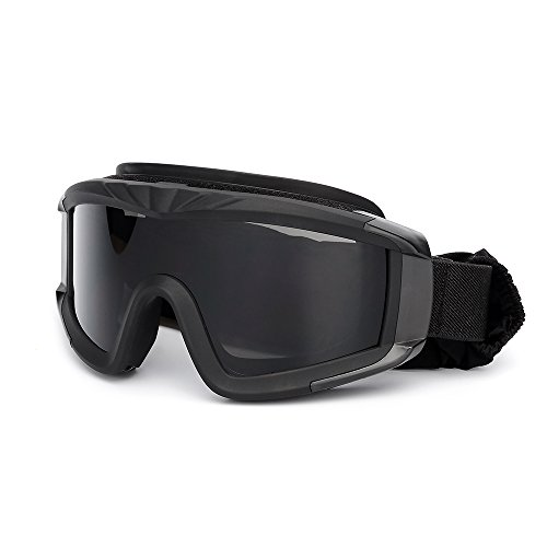KKmoon Occhiali da Caccia Tattici Militari Airsoft Occhiali da tiro Occhiali da Moto Antivento per Wargame Nero