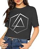 Design Custom Linkin-Park Logo Printing Crop Top Summer Midriff Top tee for Female Camisetas y Tops(XX-Large)