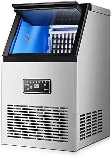 JCCOZ-URG Gewerbliche Eismaschine, eingebaute Maschinen, eingebaute Edelstahl-Eisherstellungsmaschinen, 60 kg / 24h, 15 kg Speicherkapazität, Party-Versammlung, Restaurant, Bar für unabhängige Design-