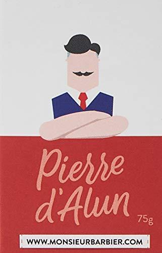 Monsieur Barbier Vraie Pierre d Alun Naturelle Bio pour Soin Après-Rasage Homme