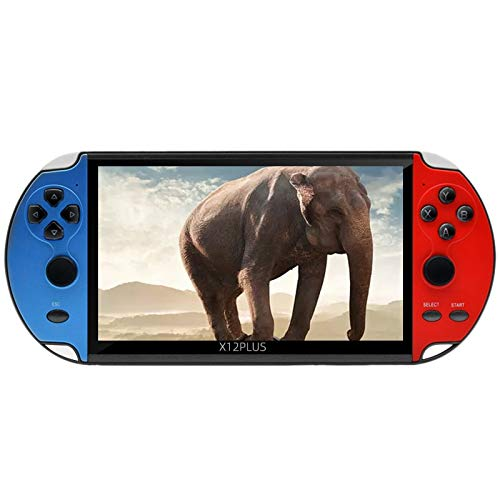 Kamenda X12Puls Consola de Juegos PortáTil Consola de Juegos con Pantalla a Color de 7.0 Pulgadas Consola de Videojuegos PortáTil con Memoria de 16GB
