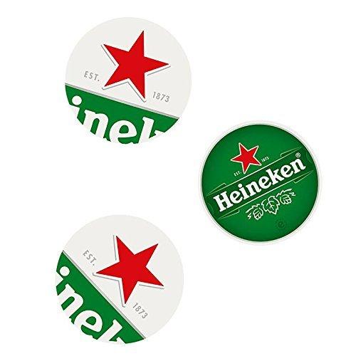 Heineken Bierdeckel - stylische Untersetzer, Bedruckt Logo
