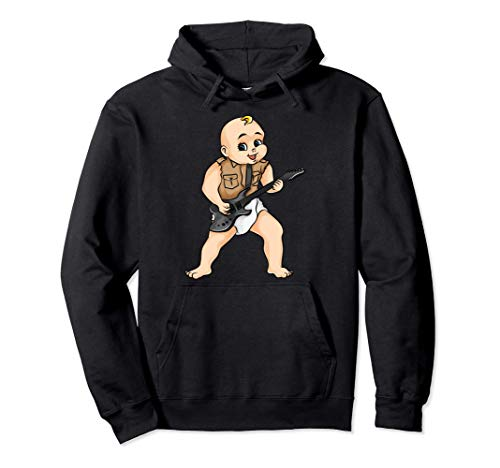 Cute Rock And Roll Guitar Gift Kids Boys Girls Cool Musician Pullover Hoodie