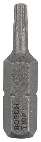 Bosch Professional Bit Extra-Hart für Innen-Torx-Schrauben (T10, Länge: 25 mm, 3 Stück)