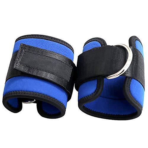 Yangyme D Anilla Ankle Straps Tobillo Correas Tobilleras Deportivas Correas Ajustables para Entrenamiento de Piernas y Glúteos en Polea Azul 1 Par