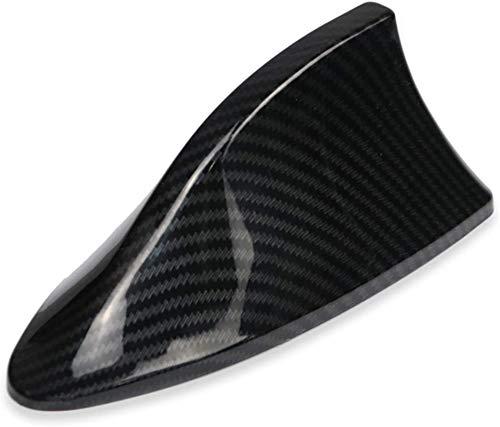 Juciyuan Antena DE AUTAS DE AUTAS del Coche Antenas DE LA SEÑAL para Ford VW BMW para Hyundai Benz Radio AUTOMÁTICO ANTICA Animal DE IMITACIÓN AÉRICA Antenas DE Fibra DE Carbono (Size : Dark Grey)