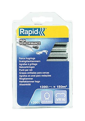RAPID, 40108799, Agrafes de grillage galvanisées, VR16, 2-8 mm, 1390 pièces, Haute qualité Gris